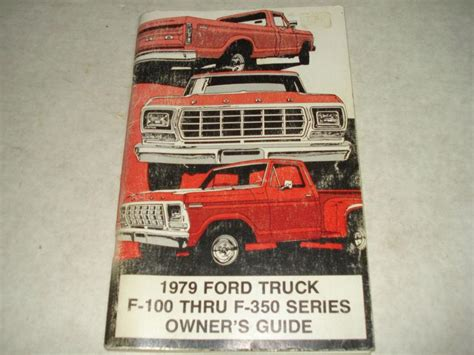 sell  ford truck   series owners manual