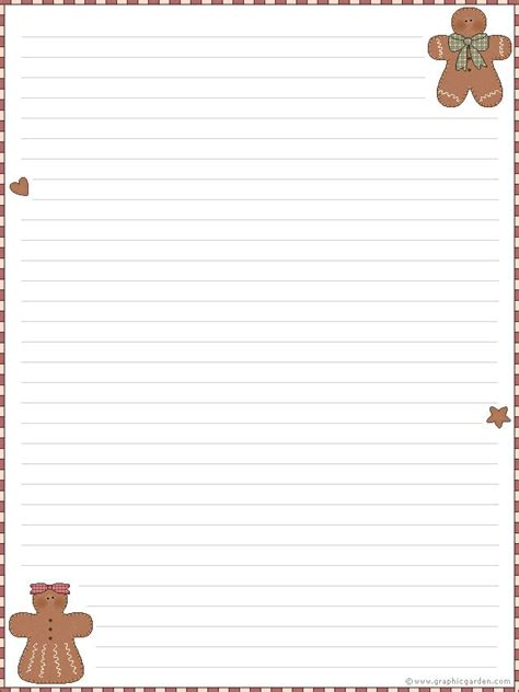 Gingerbread Man Writing Paper Essay Of Earthquake Gingerbread Man