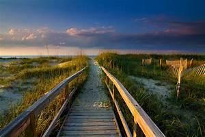 Walkway, Beach, Clouds, Grass, Sand, Sea, Sunrise, Coast