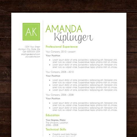 Creative Word Resume Templates Free Download