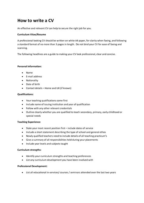 Cv Writting by Writing A Cv Easy Templateswriting A Resume Cover Letter