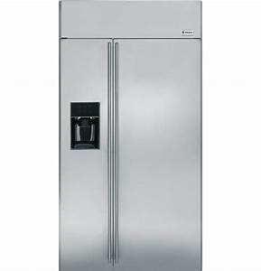 Ziss420dxss - Ge Monogram U00ae 42 U0026quot  Built-in Side-by-side Refrigerator With Dispenser