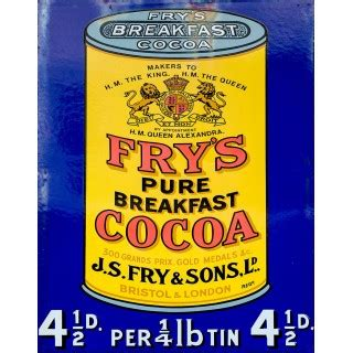 plaque metal cuisine frys cocoa vintage food metal tin sign poster