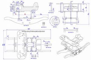 Rocking airplane kids toy plan