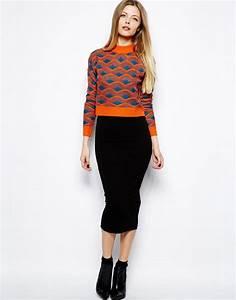 Black Pencil Midi Skirt | Fashion Skirts
