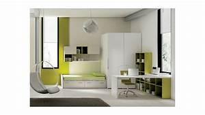 Bureau Ado Avec Rangement : chambre ado avec lit avec rangement moretti compact so nuit ~ Teatrodelosmanantiales.com Idées de Décoration