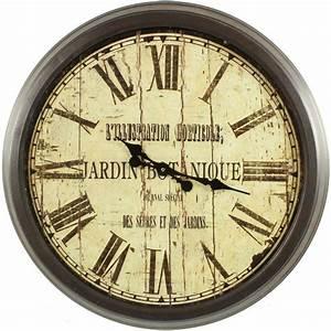 Grande Pendule Murale : grande horloge ancienne murale jardin botanique 70cm ~ Teatrodelosmanantiales.com Idées de Décoration