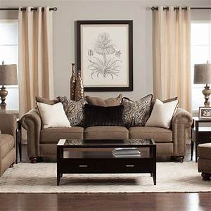 classic and elegant describe the buxton living room With living room furniture jerome s
