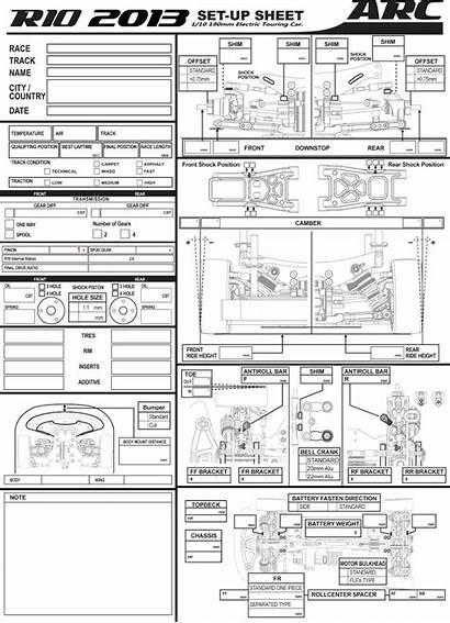 Setup Sheet Blank Arc R10 Quantum Rc