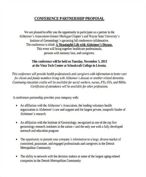 partnership proposal template  cover letter
