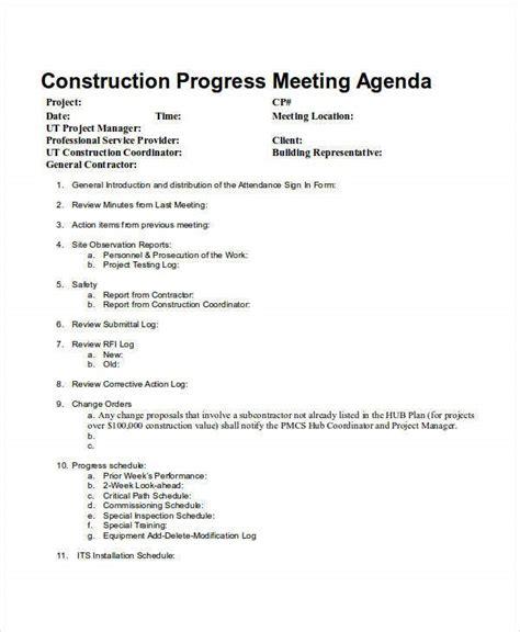 meeting agenda samples  sample  format