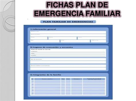 plan de emergencias familiar plan familiar de emergencias