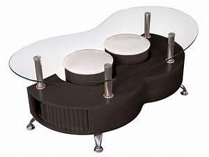 Table Basse Avec Pouf Pas Cher : table basse en verre avec pouf pas cher le bois chez vous ~ Teatrodelosmanantiales.com Idées de Décoration