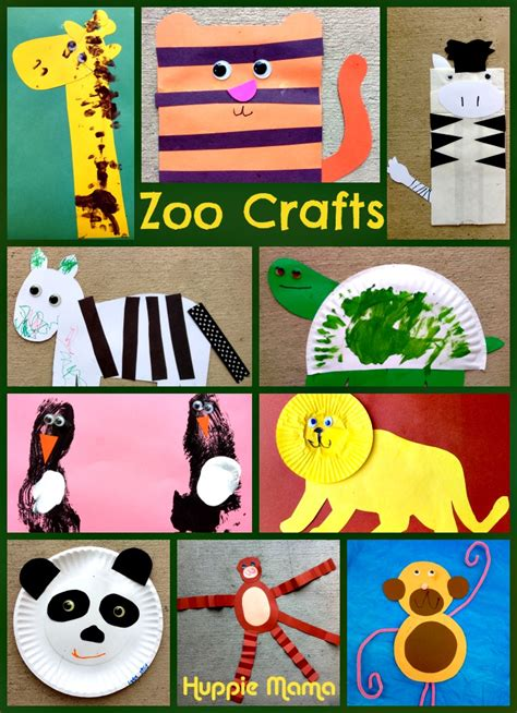 10 zoo animal preschool crafts our potluck family 252 | Zoo Animals