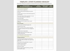 Event Planning Template Excel calendar monthly printable