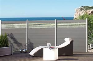 sichtschutzzaun system wpc zaunfeld set anthrazit With französischer balkon mit gartenzaun set