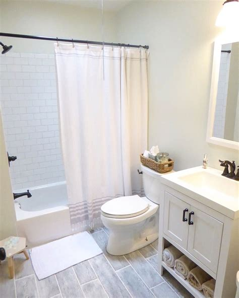 small bathroom remodel clean and bright grey floors