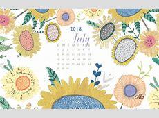 July 2018 HD Wallpaper Calendar Calendar 2019