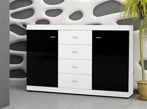 Sideboard Schwarz Weiß Hochglanz : sideboard schwarz weiss hochglanz kaufen bei yatego ~ Bigdaddyawards.com Haus und Dekorationen