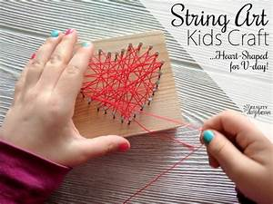 Heart-shaped Beginner String Art Kids Craft {Reality Daydream}