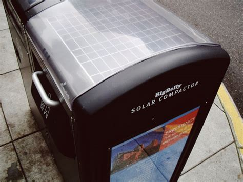 futuristic trash can gives a call when it s