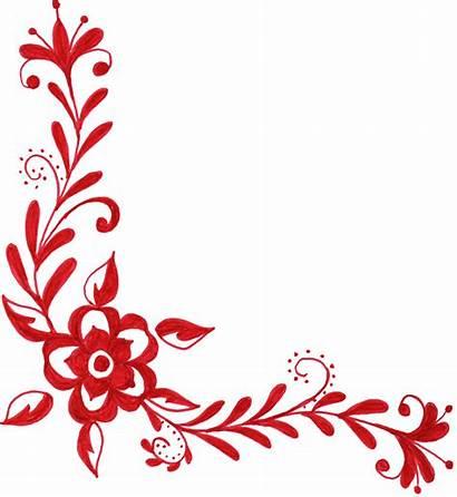Corner Ornament Transparent Flower Floral Clip Clipart