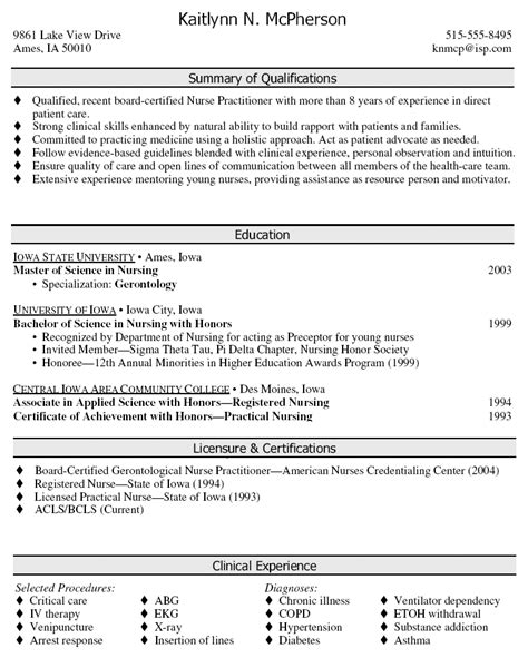 resume sample nurse practitioner south florida painless