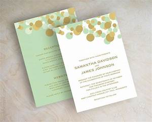 mint green and gold polka dot wedding invitations wedding With wedding invitations minted reviews