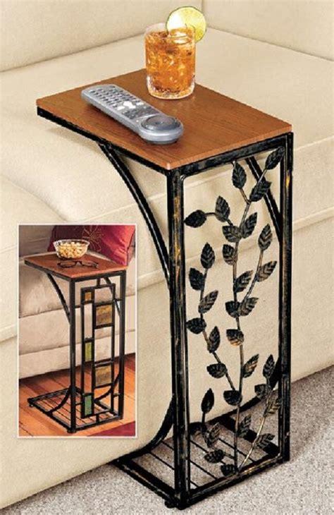 sofa side table geometric  drop leaf side easy storage small space  coffee ebay