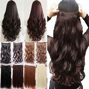5 Clips In Hair Extensions Good Quality Brown Black Blonde