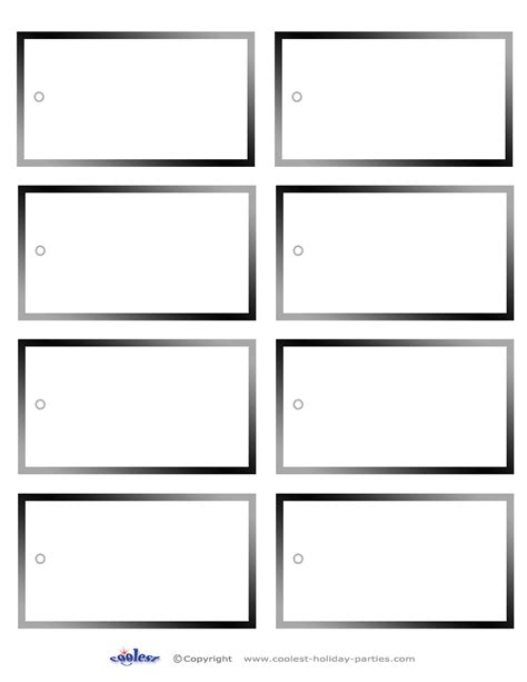 5 Best Images Of Printable Blank Tag Templates