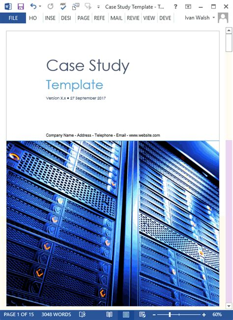 case study templates ms word   write tutorial