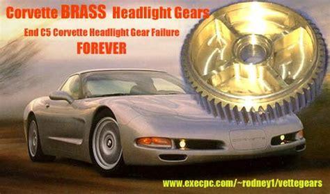 corvette  headlight motor gears  rodney dickman
