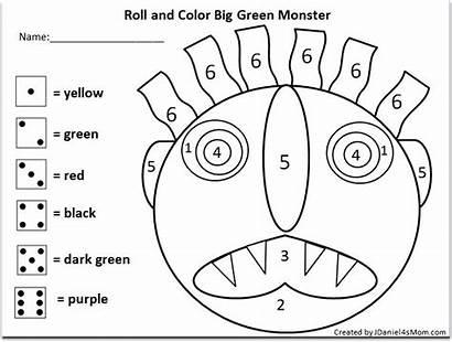 Monster Roll Away Activity Math Printable Mash
