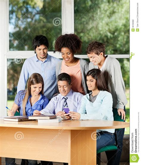 Teacher Explaining Students In Classroom Stock Photo  Image Of Classroom, Group 36709382