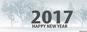 Happy New Year 2017 Winter Facebook Cover Photo - FBcover.com