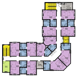 harmonious retirement home floor plans 11 best images about hospital floor plans on