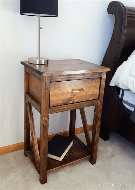 Simple Nightstand by Simple One Drawer Diy Nightstand Diy Diy Nightstand