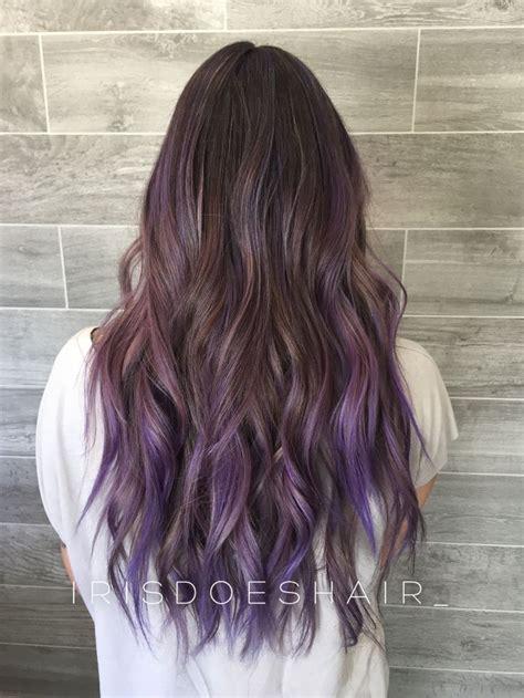 Best 25 Purple Balayage Ideas On Pinterest