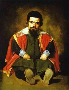 A Dwarf Sitting - Diego Velazquez Painting