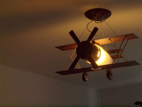 Airplane Light Fixture by Pommeraie Nursery Room Contemporary Kids Montreal