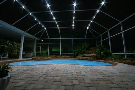 pool enclosure lighting nebula lighting systems rail light system pools