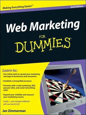 Marketing For Dummies by Web Marketing For Dummies 174 By Jan Zimmerman 183 Overdrive