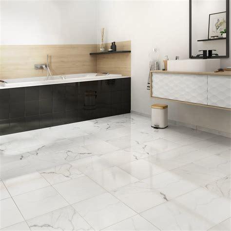 carrelage marbre blanc carrelage sol et mur intenso marbre blanc l 30 x l 30 cm