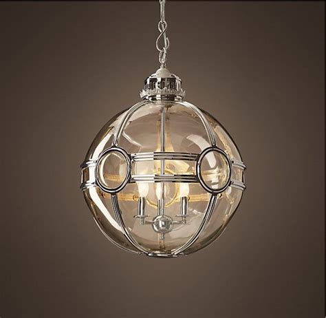 restoration hardware lighting pendant 19th c globe pendant polished nickel 20 quot from