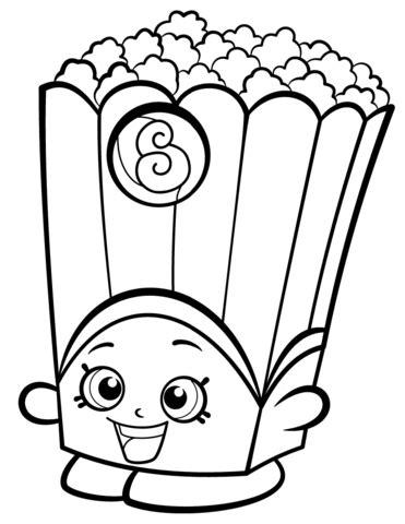 Poppy Corn Shopkin coloring page from Shopkins Season 2