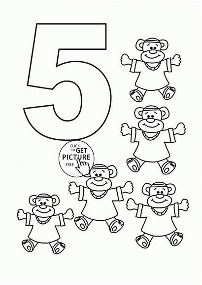 Coloring Number Pages Counting Sheets Preschool Printables