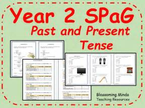 teaching ks1 past tense ks1 spag revision past and present tense by