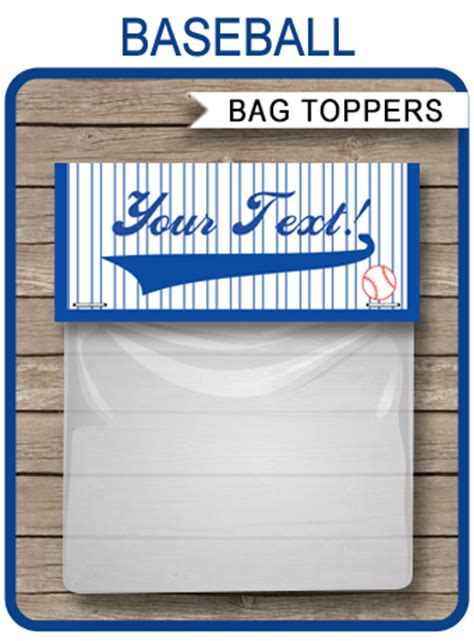 baseball party favor bag toppers birthday party favors