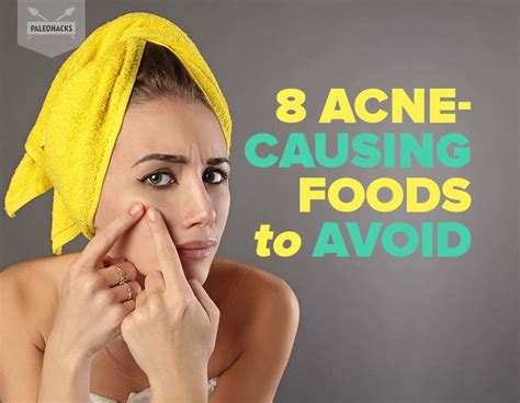 acne causing foods    avoid  clearer skin